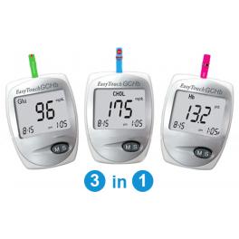 ET GCHb (üks seade, millega saab mõõta nii glükoosi-, kolesterooli kui ka hemoglobiini taset veres)