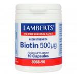 LAMBERTS BIOTIIN 500MCG KAPS N90
